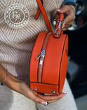 Стильная круглая сумочка-клатч Lesliey red / красный, фото №5