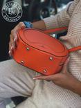 Стильная круглая сумочка-клатч Lesliey red / красный, фото №6
