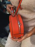 Стильная круглая сумочка-клатч Lesliey red / красный, фото №8
