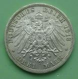3 марки. Любек. 1913 год., фото №5