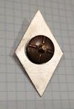 Копия Ромб ВАСВУ накладка серебро, фото №3