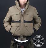 Стильная зимняя куртка размер M / песочный, фото №5