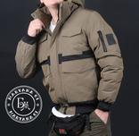 Стильная зимняя куртка размер M / песочный, фото №8