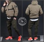 Стильная зимняя куртка размер M / песочный, фото №9