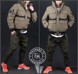 Стильная зимняя куртка размер M / песочный, фото №10