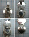 Серебряный Кулон Подвеска Локет Открывающийся для Фото Шар Сфера 925 проба 869, фото №11