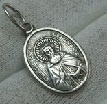 Серебряный Кулон Подвеска Святой Александр Свирский Чудотворец Серебро 925 проба 877