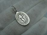 Серебряный Кулон Подвеска Святой Александр Свирский Чудотворец Серебро 925 проба 877, фото №3