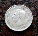 10 центов Канада 1947* состояние серебро, фото №2