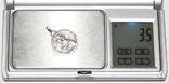 """Кулон """"Святой Кристофер (Христоф)-хранитель автомобилистов"""" (Европа,925 проба) 3,5 грамма., фото №7"""