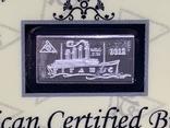 Слиток серебра 999 пробы Титаник 2012 производство США USA 1g, фото №3