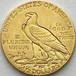 2,5 доллара. 1915. США (золото 900, вес 4,16 г), фото №3