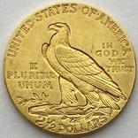 2,5 доллара. 1915. США (золото 900, вес 4,16 г), фото №5
