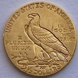 2,5 доллара. 1915. США (золото 900, вес 4,16 г), фото №7