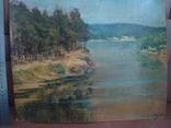 Картина масло пейзаж картон подпись художника 1975г., фото №3