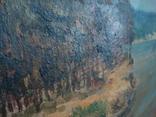 Картина масло пейзаж картон подпись художника 1975г., фото №5