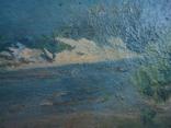 Картина масло пейзаж картон подпись художника 1975г., фото №7