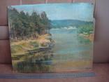Картина масло пейзаж картон подпись художника 1975г., фото №12