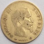 10 франков. 1856. Наполеон III. Франция (золото 900, вес 3,19 г), фото №4