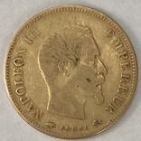 10 франков. 1856. Наполеон III. Франция (золото 900, вес 3,19 г), фото №12