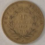 10 франков. 1856. Наполеон III. Франция (золото 900, вес 3,19 г), фото №13