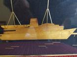 Картина рисовая соломка. Теплоход., фото №4