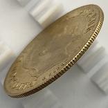 10 франков. 1866. Наполеон III (в венке). Франция (золото 900, вес 3,20 г), фото №7