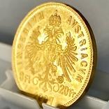 8 флоринов 20 франков. 1887. Франц Иосиф I. Австро-Венгрия (золото 900, вес 6,45 г), фото №11