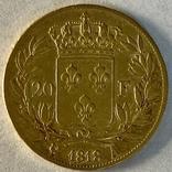 20 франков. 1818. Луи XVIII. Франция (золото 900, вес 6,38 г), фото №11