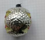 Елочная игрушка Шар со звездой СССР, фото №4