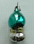 Елочная игрушка Домик- грибок с зеленой крышей СССР 6см, фото №3
