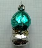Елочная игрушка Домик- грибок с зеленой крышей СССР 6см, фото №5