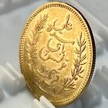 10 франков. 1891. Тунис. (золото 900, вес 3,20 г), фото №9
