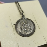 Медальон на цепочке. Диаметр 20мм. Серебро, фото №5