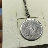 Медальон на цепочке. Диаметр 20мм. Серебро, фото №7