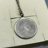 Медальон на цепочке. Диаметр 20мм. Серебро, фото №8