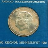 200 крон 1980 года, Швеция, Шведский закон наследования короны, фото №4