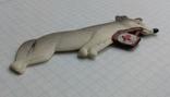 Елочная игрушка Волк медбрат СССР Колкий пластик 8.5см, фото №5