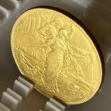 """50 лир. 1911. """"50 лет Королевству"""" Италия (R) (золото 900, вес 15,66 г), фото №9"""