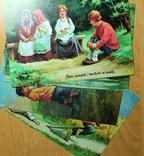 """Худ. издание """"Зингер"""" Почтовая открытка четыре шт (копия), фото №2"""