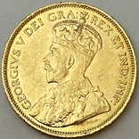 5 долларов. 1912. Георг V. Канада (золото 900, вес 8,37 г), фото №3