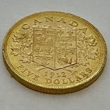 5 долларов. 1912. Георг V. Канада (золото 900, вес 8,37 г), фото №6