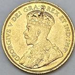 5 долларов. 1912. Георг V. Канада (золото 900, вес 8,37 г), фото №2