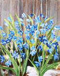 Картина, Перші квіти, 25х20 см. Живопис на полотні, фото №4