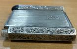 Серебряная пудреница с тубусом под помаду, фото №7