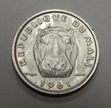 5 франков, 1961 г Мали, фото №3