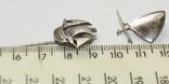 Заколка і підвіска Срібло Кораблики 4,56 грам, фото №3