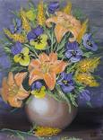 Картина, Букет в вазе, 30х40 см. Живопись на холсте, фото №3