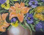 Картина, Букет в вазе, 30х40 см. Живопись на холсте, фото №8