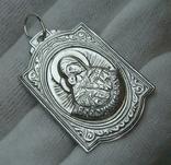 Серебряный Кулон Образок Ладанка Богородица Владимирская Умиление Серебро 925 проба 512